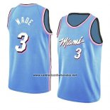 Camiseta Miami Heat Dwyane Wade #3 Earned 2018-19 Azul