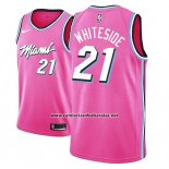 Camiseta Miami Heat Hassan Whiteside #21 Earned 2018-19 Rosa