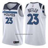 Camiseta Minnesota Timberwolves Jimmy Butler #23 2017-18 Blanco