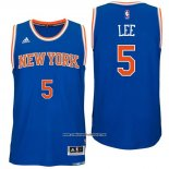 Camiseta New York Knicks Courtney Lee #5 Azul