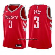 Camiseta Nino Houston Rockets Chris Paul #3 Icon 2017-18 Rojo