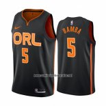 Camiseta Orlando Magic Mohamed Bamba #5 Ciudad Edition Negro2