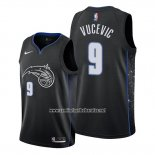 Camiseta Orlando Magic Nikola Vucevic #9 Ciudad Edition Negro