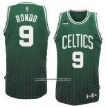 Camiseta Resonate Moda Boston Celtics Rajon Rondo #9 Verde