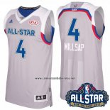 Camiseta All Star 2017 Atlanta Hawks Paul Millsap #4 Gris