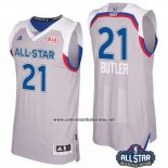 Camiseta All Star 2017 Chicago Bulls Jimmy Butler #21 Gris