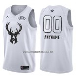 Camiseta All Star 2018 Milwaukee Bucks Nike Personalizada Blanco