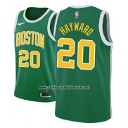 Camiseta Boston Celtics Gordon Hayward #20 Earned 2018-19 Verde