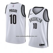 Camiseta Brooklyn Nets Theo Pinson #10 Association 2018 Blanco