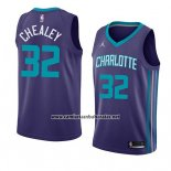 Camiseta Charlotte Hornets Joe Chealey #32 Statement 2018 Violeta