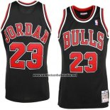 Camiseta Chicago Bulls Michael Jordan #23 Retro 1997-98 Negro