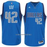 Camiseta Dallas Mavericks David Lee #42 Azul