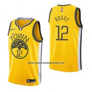 Camiseta Golden State Warriors Andrew Bogut #12 Earned 2018-19 Amarillo