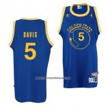 Camiseta Golden State Warriors Baron Davis #5 Retro Azul