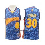 Camiseta Golden State Warriors Stephen Curry #30 Mitchell & Ness Azul