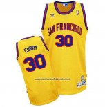 Camiseta Golden State Warriors Stephen Curry #30 Retro Amarillo