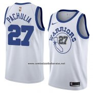 Camiseta Golden State Warriors Zaza Pachulia #27 Hardwood Classic 2018 Blanco