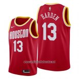 Camiseta Houston Rockets James Harden #13 Hardwood Classics 2019 Rojo