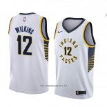 Camiseta Indiana Pacers Damien Wilkins #12 Association 2018 Blanco
