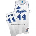 Camiseta Los Angeles Lakers Jerry West #24 Retro Blanco