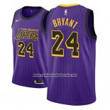 Camiseta Los Angeles Lakers Kobe Bryant #24 Ciudad 2018 Violeta