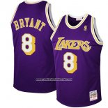 Camiseta Los Angeles Lakers Kobe Bryant #8 Retro Violeta
