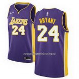 Camiseta Los Angeles Lakers Kobe Bryant #24 Statement 2017-18 Violeta