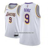 Camiseta Los Angeles Lakers Luol Deng #9 Association 2018-19 Blanco