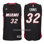 Camiseta Miami Heat James Ennis #32 Negro