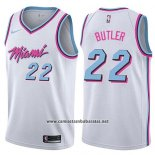 Camiseta Miami Heat Jimmy Butler #22 Ciudad 2019 Blanco