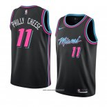 Camiseta Miami Heat Philly Cheese #11 Ciudad 2018-19 Negro