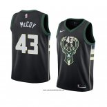 Camiseta Milwaukee Bucks Brandon Mccoy #43 Statement 2018 Negro