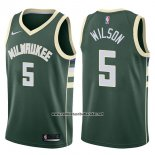 Camiseta Milwaukee Bucks D.j. Wilson #5 Swingman Icon 2017-18 Verde