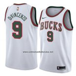 Camiseta Milwaukee Bucks Donte Divincenzo #9 Classic 2018 Blanco