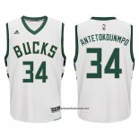 Camiseta Milwaukee Bucks Giannis Antetokounmpo #34 Blanco