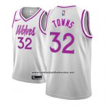 Camiseta Minnesota Timberwolves Karl Anthony Towns #32 Earned 2018-19 Gris