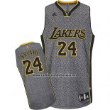 Camiseta Moda Estatica Los Angeles Lakers Kobe Bryant #24 Gris