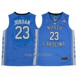 Camiseta NCAA North Carolina Tar Heels Michael Jordan #23 Azul