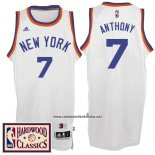Camiseta New York Knicks Carmelo Anthony #7 Retro Blanco