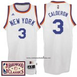 Camiseta New York Knicks Jose Calderon #3 Retro Blanco