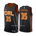 Camiseta Orlando Magic Melvin Frazier #35 Ciudad Edition Negro