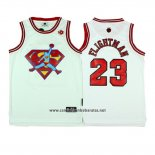Camiseta Pelicula Flightman Superman #23 Blanco