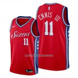 Camiseta Philadelphia 76ers James Ennis III #11 Statement Rojo