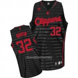 Camiseta Ranura Moda Los Angeles Clippers Blake Griffin #23 Negro