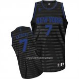 Camiseta Ranura Moda New York Knicks Carmelo Anthony #7 Negro