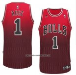 Camiseta Resonate Moda Chicago Bulls Derrick Rose #1 Rojo