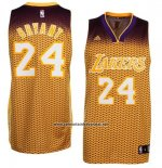 Camiseta Resonate Moda Los Angeles Lakers Kobe Bryant #24 Amarillo