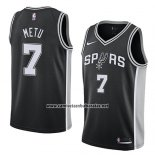 Camiseta San Antonio Spurs Chimezie Metu #7 Icon 2018 Negro