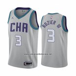 Camiseta Charlotte Hornets Terry Rozier III #3 Ciudad Edition Gris