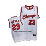 Camiseta Chicago Bulls Michael Jordan #23 Retro 1984-85 Blanco